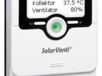 Neuer Multifunktionsregler für SolarVenti® Warmluftkollektoren schafft zusätzlichen Komfort
